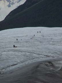 Hikers on Root Glacier, Wrangell St. Elias National Park