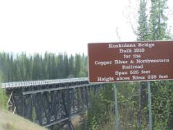 Kuskulana Bridge on the McCarthy Road