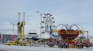 Midway Rides at the Fur Rondy and Iditarod celebration