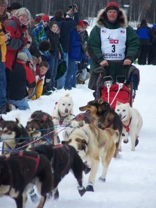 Iditarod musher departs Willow for Nome