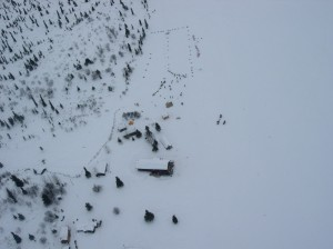 Iditarod checkpoint at Rainy Pass