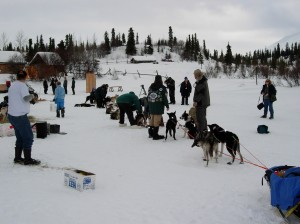 Rainy Pass checkpoint on the Iditarod